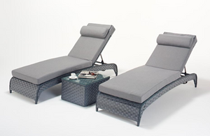 Platinum Grey Lounger Pair