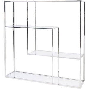 Linton Stainless Steel and Glass Modular Display Unit