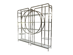 Set of 2 Decadence Gatsby Stainless Steel Shelving Unit