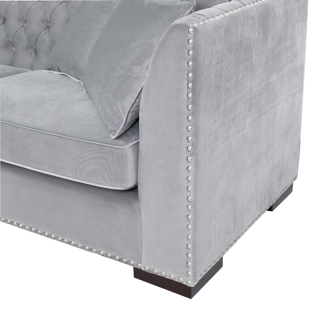 Chesterfield Corner Suite Left Sided - Grey