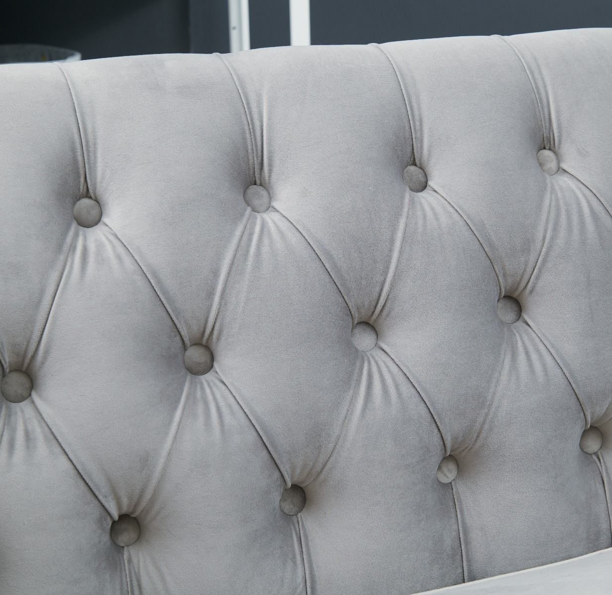 Chesterfield Corner Suite Right Sided - Grey