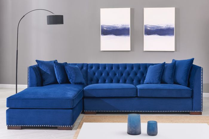 Chesterfield Corner Suite Left Sided - Royal Blue