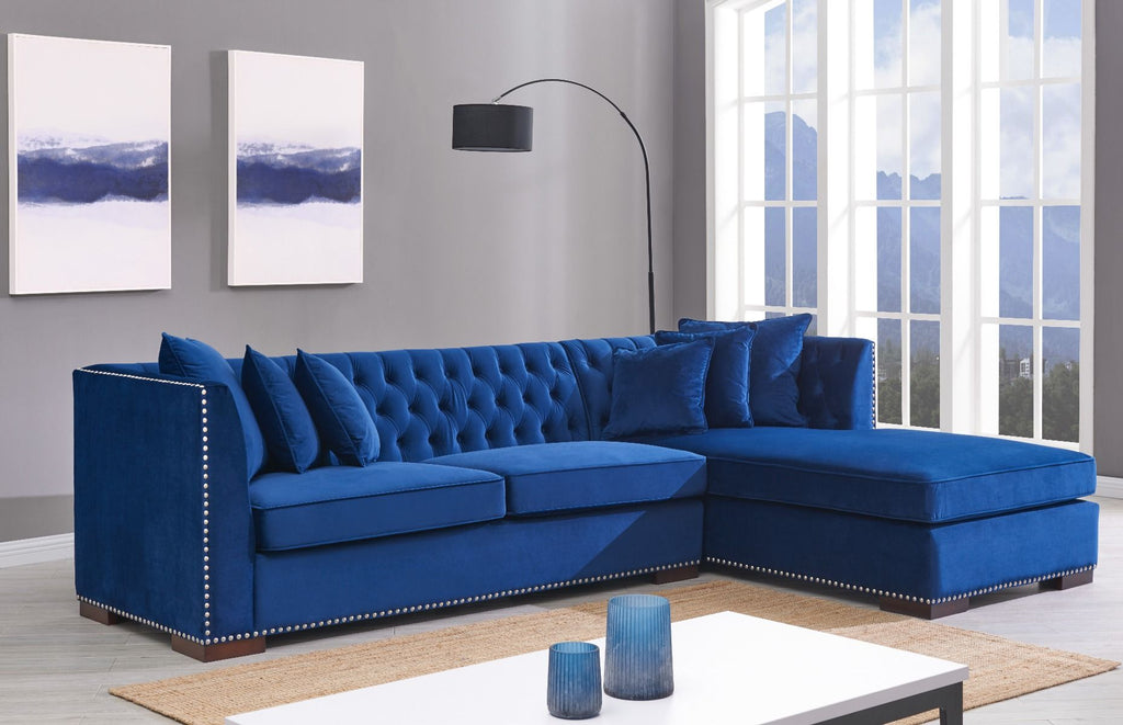 Chesterfield Corner Suite Right Sided - Royal Blue