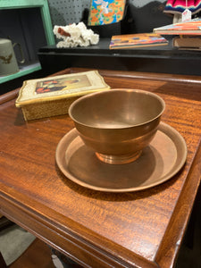 Copper plate and bowl