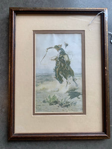 Professionally framed Cowboy Print