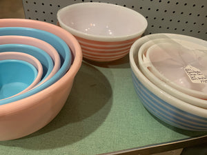 Pyrex Striped Mixers