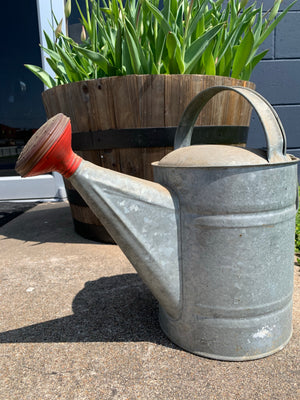 Vintage watering can - Red Spout