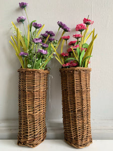Skinny wall hanging baskets: $9.95 Each