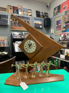 Mid Century bowling trophy with working clock
