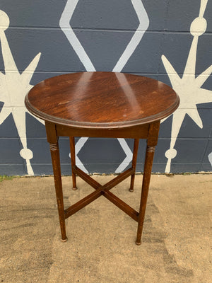 Solid Oak Accent Table
