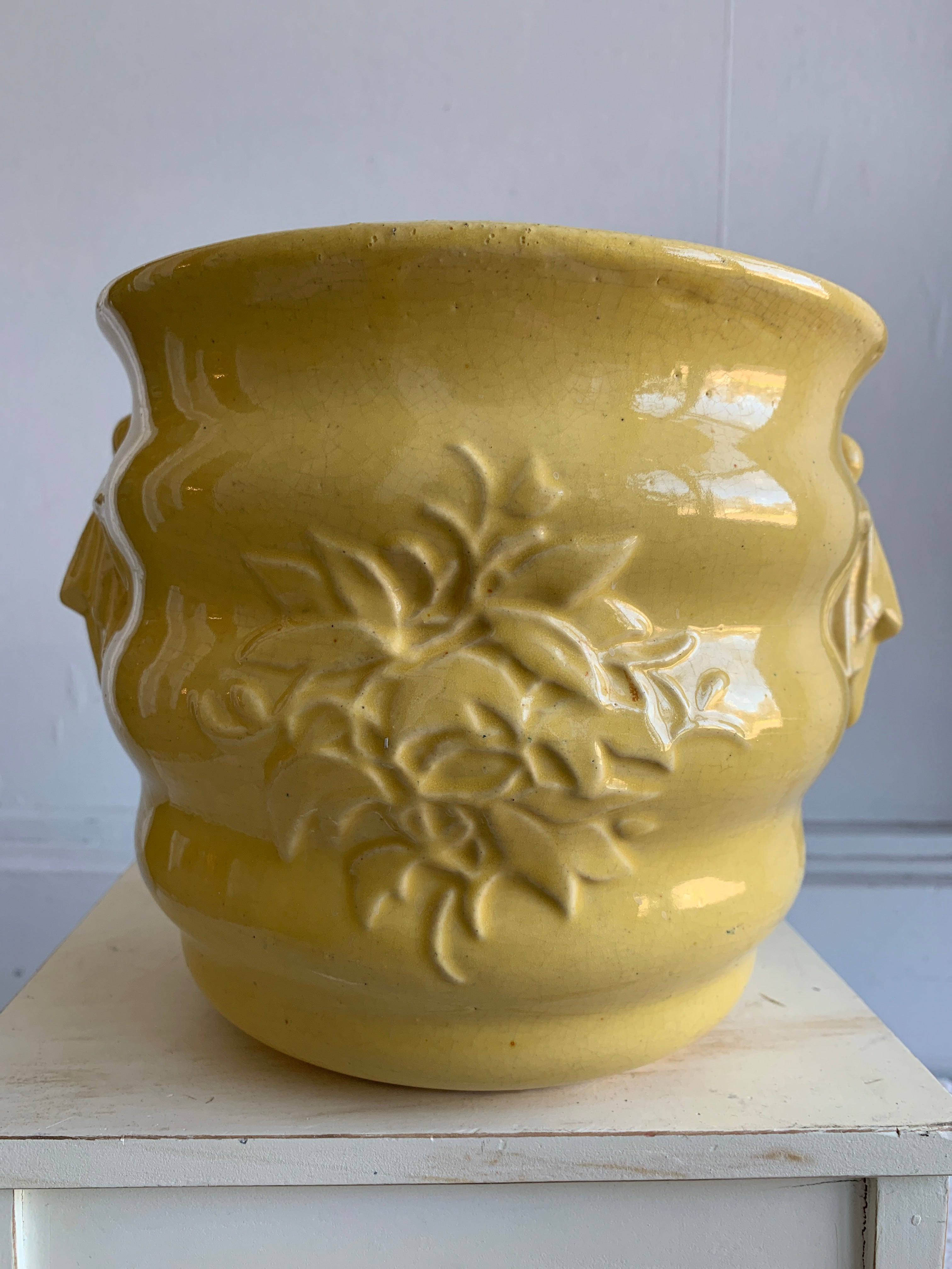 Large yellow McCoy vase