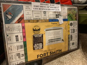 Historic Rare Fort Smith 150th birthday city business board game