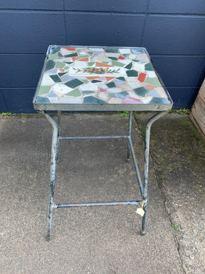 Heavy plant stand with decoupage top