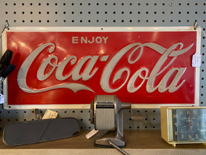 Coca Cola Sign / Vintage / Not Reproduction