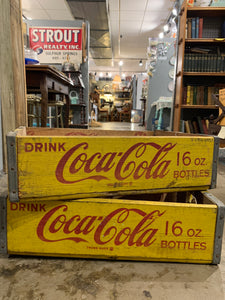 Wooden Coca Cola Crate/ One Available