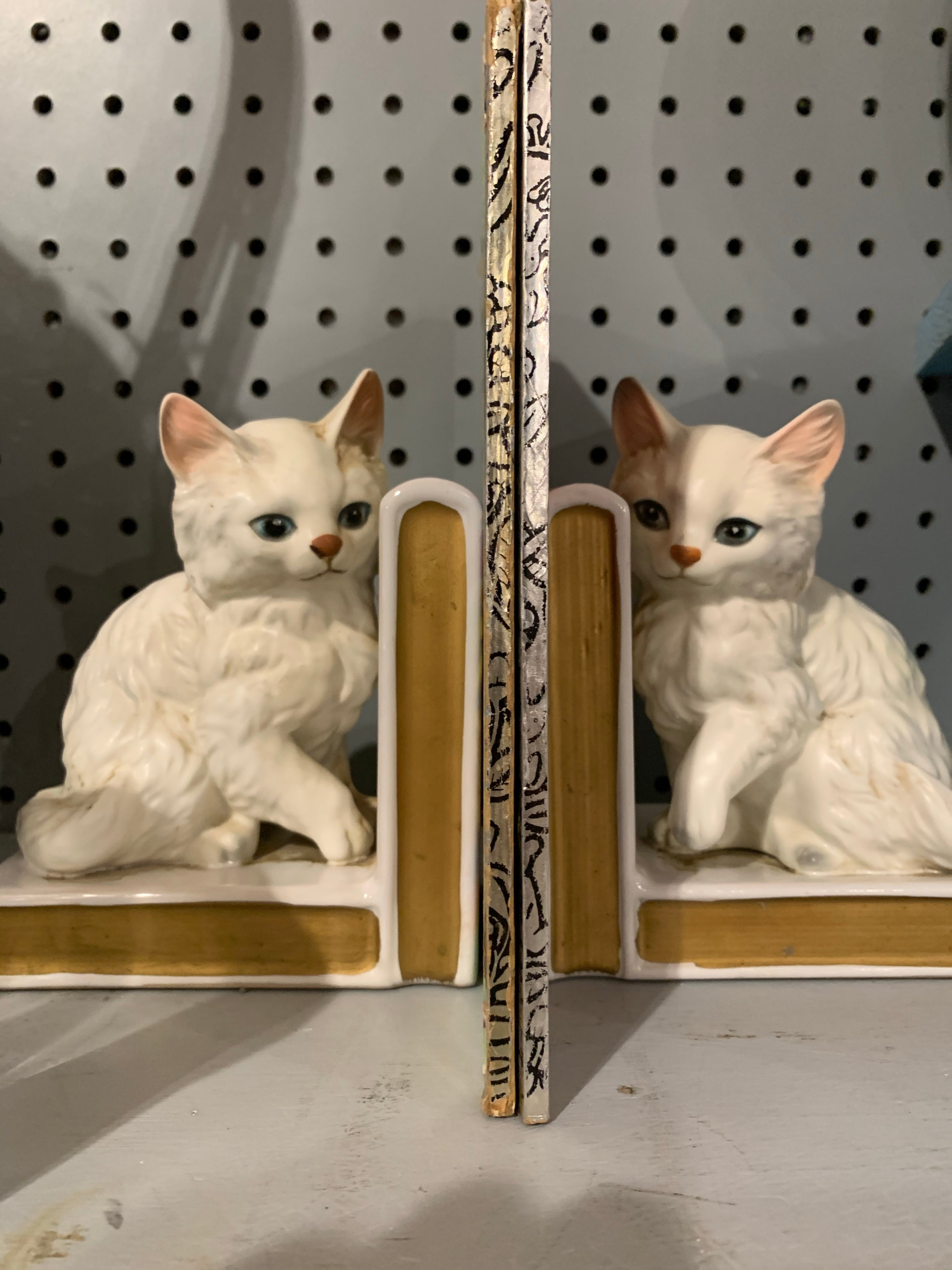 Lefton Kitty Bookends