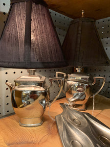 Repurposed Creamer and Sugar lamps/ $12.50 each