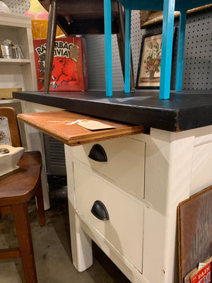 Solid Farmhouse style desk with pull out