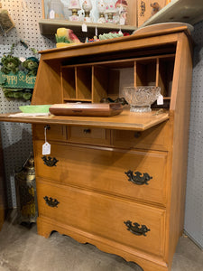 Drop front maple secretary