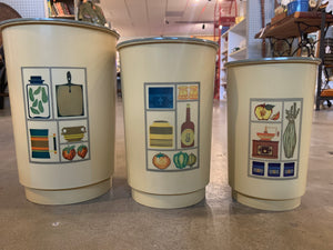 Retro plastic stackable canisters