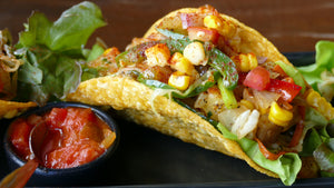 Roasted Corn Vegan Tacos