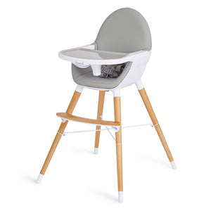 Duo Wooden Highchair - Grey