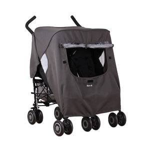 Pack-It Keep Us Dry Double Stroller Rain Cover - Grey