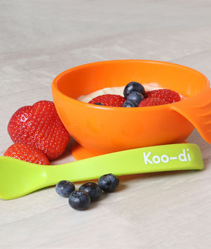 Feed-Me Silicone Weaning Bowl & Spoon Set