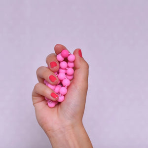 "Heartbeads Halskette ""Cotton Candy Pink"""