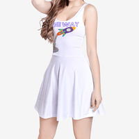 Women's Sleeveless Midi Casual Flared Skater Dress - ToneWay Clothing
