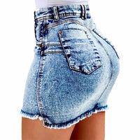 Toneway Clothing Women Denim Bodycon Mini Skirts High Waist Sexy Pencil Jeans Short Skirts Women 2019 Summer Fashion Pocket Skirt Female - ToneWay Clothing
