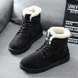 Toneway Clothing Snow Boots 2020 New Mid-Calf Boots Ladies Cotton Winter Boots Women Warm Fur Women Shoes - ToneWay Clothing