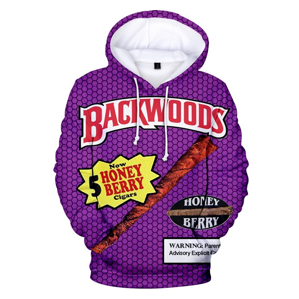 Backwoods 3D Print Streetwear Fashion Hoodie Men/Women Autumn Winter Hip Hop Sweatshirts - ToneWay Clothing