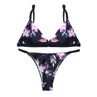 Cartoon Pritned Sexy Bikini Set Women Swimwear 2019 New Push Up Padded Biquini Swimsuit Women Bathing Suit Swimming Suit - ToneWay Clothing
