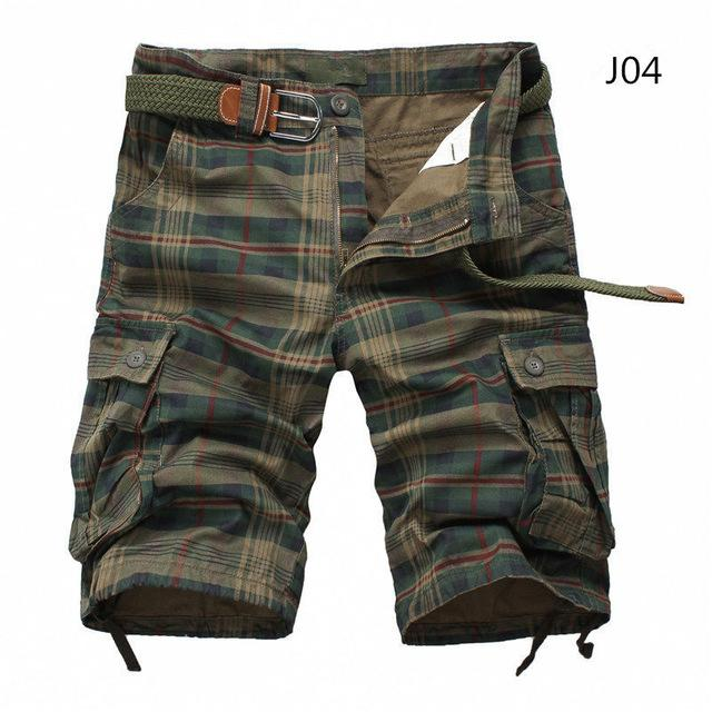 Toneway Clothing Men Shorts 2020 Fashion Plaid Beach Shorts Mens Casual Camo Camouflage Shorts Military Short Pants Male Bermuda Cargo - ToneWay Clothing