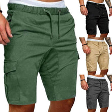 Load image into Gallery viewer, Toneway Clothing New 2020 Summer Shorts Men Elastic Drawstring Trunk Fitness Work Casual Breathable Gym Shorts - ToneWay Clothing