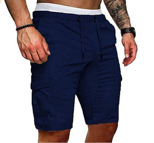 Toneway Clothing New 2020 Summer Shorts Men Elastic Drawstring Trunk Fitness Work Casual Breathable Gym Shorts - ToneWay Clothing