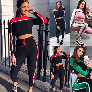 Toneway Clothing Casual Women's Tracksuit Sportswear Fitness Suit For Female Clothing Workout Two Piece Jumpsuit - ToneWay Clothing