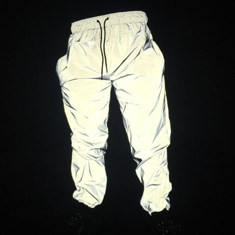 Toneway Clothing Men Reflective Glowing Shiny Hip Hop Pants - ToneWay Clothing
