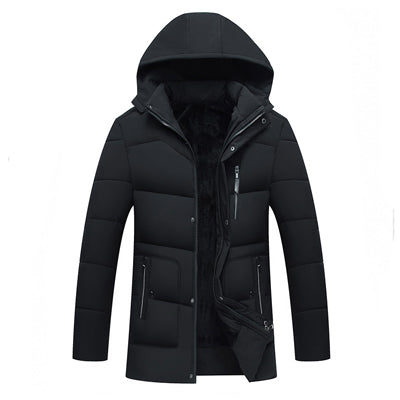 Toneway Clothing New 2020 Men Jacket Coats Thicken Warm Winter Jackets Casual Men Parka Hooded Outwear Cotton-padded Jacket - ToneWay Clothing