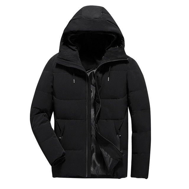 Toneway Clothing Winter Jacket Men Clothes 2020 Casual Stand Collar Hooded Collar Fashion Winter Coat Men Parka Outerwear Warm Slim fit - ToneWay Clothing