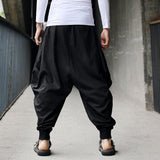 Vintage Toneway Clothing Sweatpants for Men Harem Pants Cotton Linen Festival Baggy Solid Trousers Retro Gypsy Pants Military Pants - ToneWay Clothing