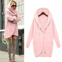 Toneway Woolen Outerwear & Coats Jackets Fashion Women Hooded Thin Coat Loose Ladies Casual coats and jackets - ToneWay Clothing