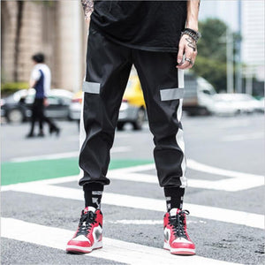 Men Jogger Track Pants Streetwear Striped Hip Pop Pants Sportwear Cargo Pants - ToneWay Clothing