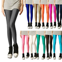 Toneway Clothing Solid Candy Neon Leggings for Women High Stretched Female Legging Pants Girl Clothing Leggins Plug Size - ToneWay Clothing