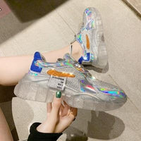 Trendy Transparent Spring Fashion Women Sneakers - ToneWay Clothing