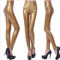 Toneway Clothing Womens PU Leather Pants High Elastic Waist Leggings Not Crack Slim Leather Leggings Fleece Trousers Women Fashion F80 - ToneWay Clothing