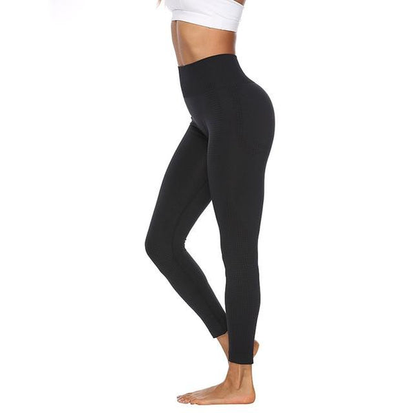 High Waist Seamless Leggings For Women Solid Fitness Leggings - ToneWay Clothing