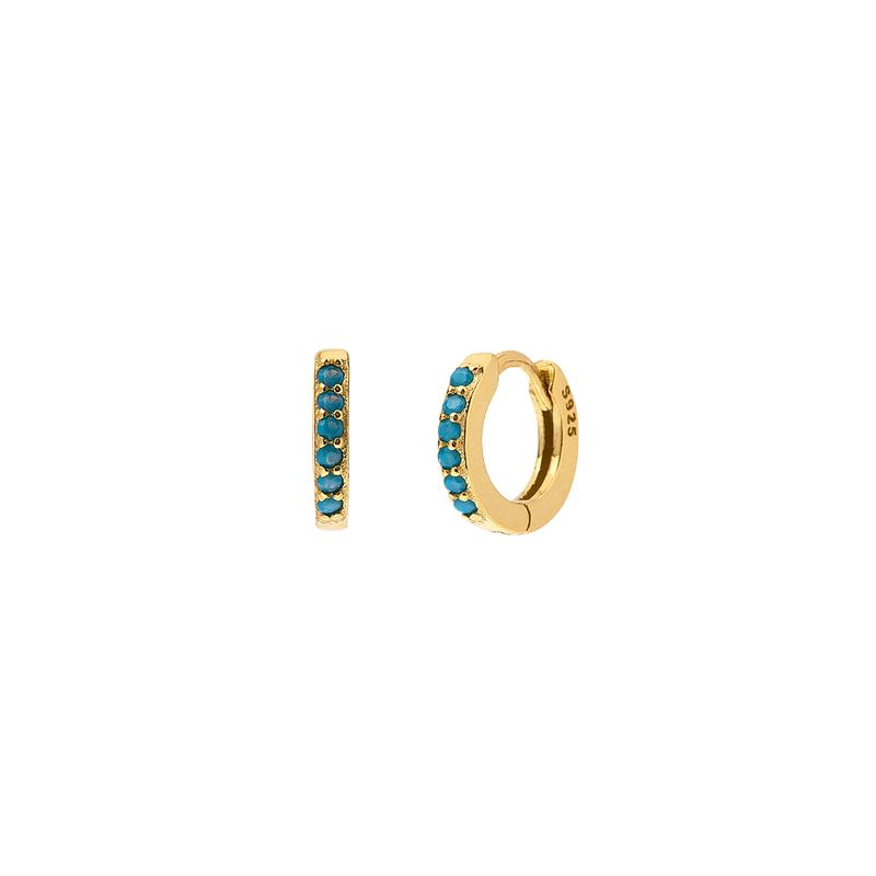 Bright Hoop Gold Lila