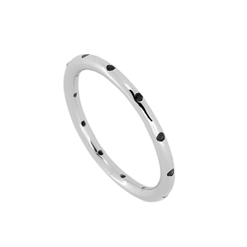 Anillo Misty Silver Black